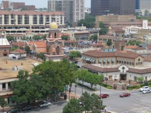 A look at a portion of Country Club Plaza in Kansas City